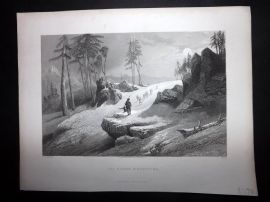 After Stanfield 1846 Antique Print. The Choor Mountains, India